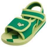 waterschoen sandaal groen met krokodil