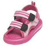 waterschoen sandaal roze gestreept