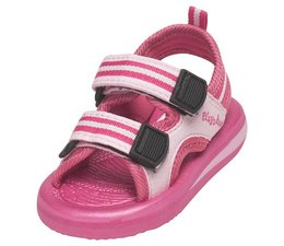 Playshoes watersandaal roze gestreept