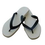 slippers wit/zwart