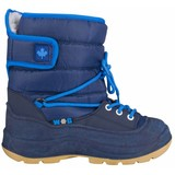 junior snowboots Velcro marine/blauw