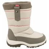 junior snowboots zip-up grijs/roze