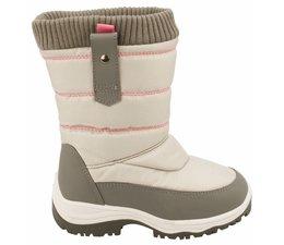 Winter-grip junior snowboots zip-up grijs/roze