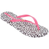 Animal print wit/roze