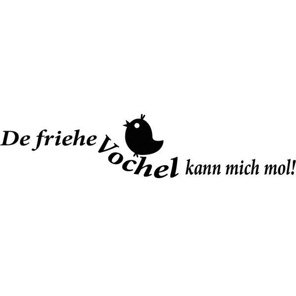 "Pfälzer Wandtattoo ""De friehe Vochel..."""