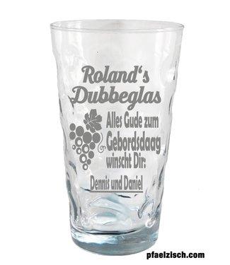 """Dubbeglas """"Geburtstag"""""""
