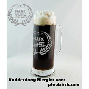 Vadderdaag Bierglas 0,5Liter mit XXL Gravur (QUALITÄTSGLAS von Böckling)