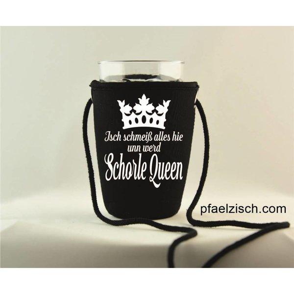 Pfälzer Schorlehalter bedruckt (Schorle Queen)