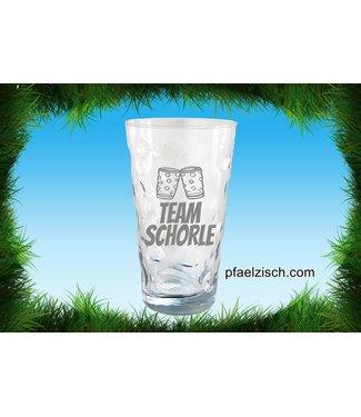 """Dubbeglas mit """"Team Schorle"""" Logo"""