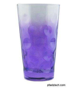 Dubbeglas lila (3/4 farbig)