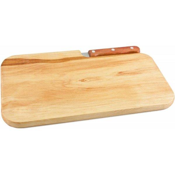 Schneidebrett mit Messer, Erle 26 x 15 x 1,2 cm