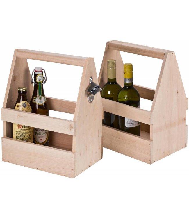 Bier und Wein Träger aus Erle