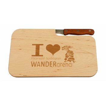 """""""I love Wanderarena"""" - Wanderarena Schneidebrett"""