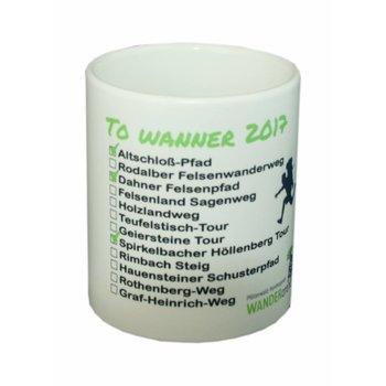 """To Wanner 2017"" Kaffeetasse Wanderarena"