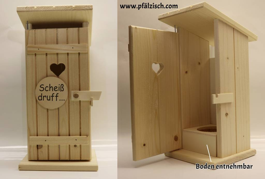 toilettenhaus f r schnapsflaschen dubbeglas shop. Black Bedroom Furniture Sets. Home Design Ideas