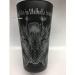 Dubbeglas mit großer Odin Gravur (Mit Odin in Walhalla trinken)