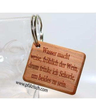 Pfälzer Schlüsselanhänger mit Spruch