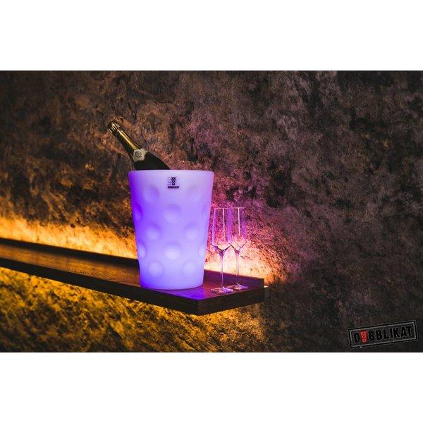 Dubbeglas Weinkühler Sektkühler LED