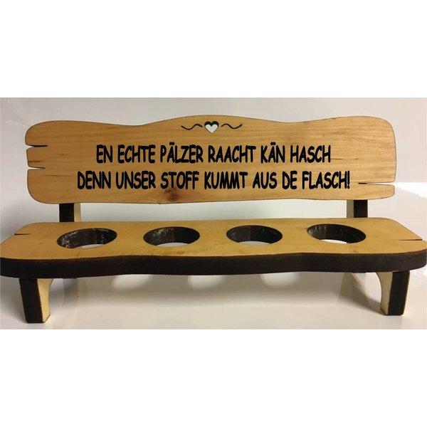 Ein echter Pfälzer raucht kein... (Schnapsbank mit Branding) 2, 4 oder 6 Gläser