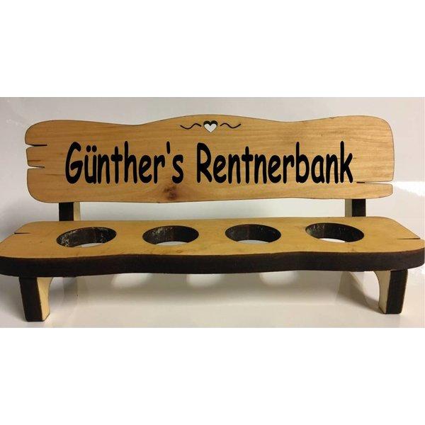 """""""Name"""" Rentnerbank 2, 4 oder 6 Gläser"""