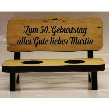 Schnapsbank Geburtstag 2, 4 oder 6 Gläser (Hochdeutsch)