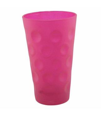 Dubbeglas pink matt gefärbt