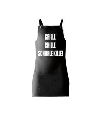 Grillschürze bedruckt (GRILLE, CHILLE, SCHORLE KILLE)