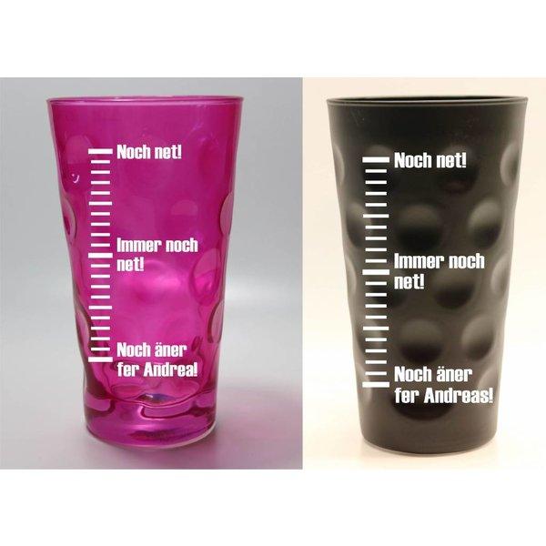 Dubbeglas farbig (Noch net-Dubbeglas)