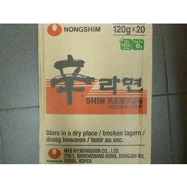 Nongshim Shin Ramyun Hot&spicy 20x120gr