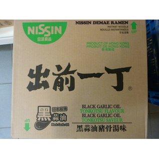 Nissin instant noodle black garlic oil 30x100gr