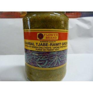 Flower brand sambal rawit groen 375gr