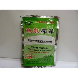 Preserved vegtable hot (辣榨菜) 80gr