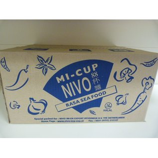Nivo cup noodle seafood 24x65gr
