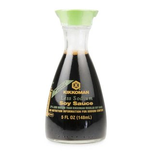 Kikkoman soy sauce less salt 150ml