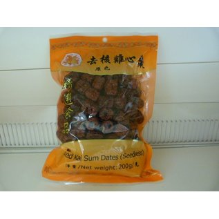 Dried red dates seedless 200gr