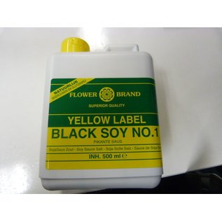 Flower brand yellow label black soy 500ml