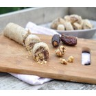 Date cookie stuffed with walnuts and sesame paste