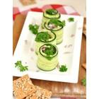 Komkommerrolletjes met avocado