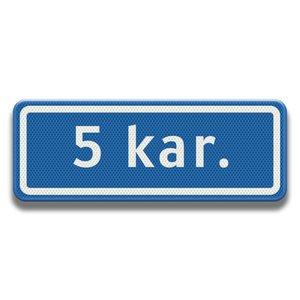 Straatnaambord 400 x 150 mm (5 karakters)