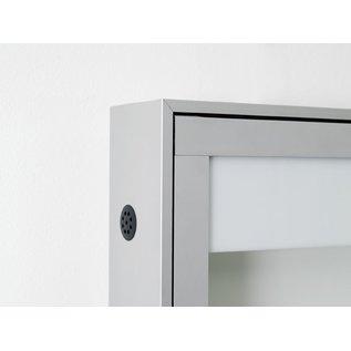 informatiekast 4 x A4 - 10025 Wandmodel - Buiten