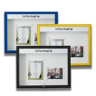 Informatiekast 16 x A4 - 10025 Wandmodel - Buiten