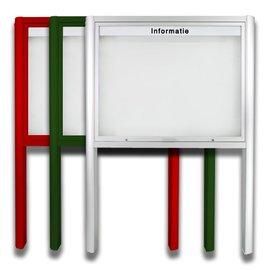 Informatiekast 21 x A4 - 1593 Staand model - Buiten