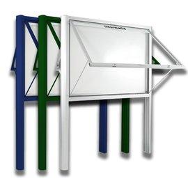 Informatiekast 8 x A4 - 1593 dubbelzijdig Staand model - Buiten
