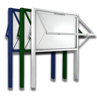 Informatiekast 4 x A4 - 1593 dubbelzijdig Staand model - Buiten