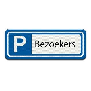 Parkeerplaatsbord Bezoekers 400 x 150 mm
