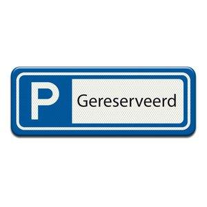 Parkeerplaatsbord Gereserveerd 400 x 150 mm