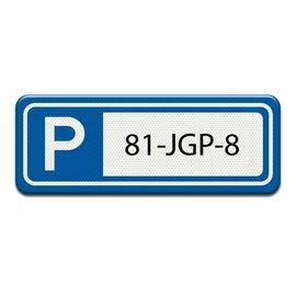 Parkeerplaatsbord Kenteken