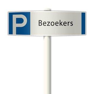 Parkeerplaatsbord Bezoekers deluxe 510 x 150 mm