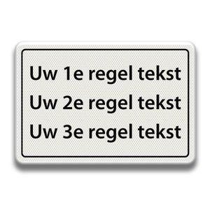 Tekstbord wit/zwart - 3 REGELS 600 x 400 mm