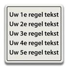 Tekstbord wit/zwart 5 - REGELS 600 x 600 mm